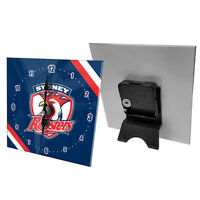 NRL Desk Clock  - Sydney Rooster - Gift Box - Rugby League - Football