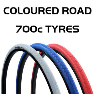 700 x 28C Vandorm Road Route Fixie Track Road Bike Coloured Tyre 700c