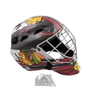 Ed Belfour Autographed Chicago Blackhawks Full-Size Goalie Mask - BAS COA