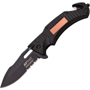Coltello Mtech Solar LED Chiudibile Black MTA887BK Knife Messer Couteau Navaja