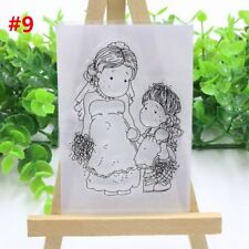 Lovely Girl Transparent Clear Rubber Stamp DIY Silicone Scrapbooking Decor Craft