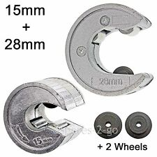 15mm 28mm PIPE CUTTER RAME ALLUMINIO TUBI Slice strumento di taglio + RUOTE DI RICAMBIO