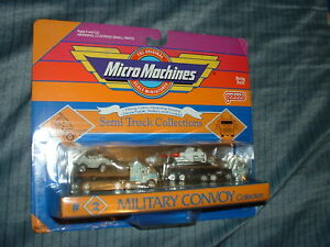 RARE LOT 2nd SERIES 1990 MICRO MACHINES SEMI TRUCK COLLECTION MILITARY CONVOY #2