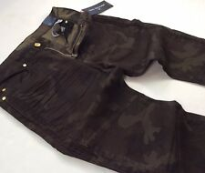 True Religion Men Military Army Camo Ankle-Zip Moto Biker Rider Motocross Jeans