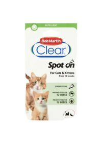 Bob Martin Spot On for Cats & Kittens 12 Weeks 6 Applications.
