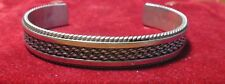 Tahe Navajo Sterling Silver Chain Accent Cuff Bracelet