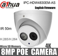 Dahua IPC-HDW4830EM-AS 8MP IR Eyeball Network Camera Micro SD memory IP67 PoE
