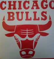 "Chicago Bulls NBA Logo Vinyl Decal Sticker - Laptop Window Car YETI 6"""