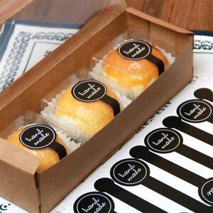 5 Sheet Black Hand Made Adhesive DIY Gift Label Sticker Cake Paper Stickers