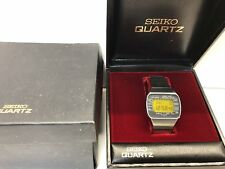 1977 SEIKO Pan AM M158 5000  LC Quartz LCD Digital watch Rare uhr MOT