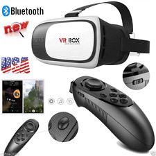 VR BOX Virtual Reality 3D Glasses Bluetooth Remote Control For Smartphone US Hot