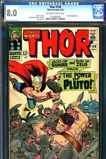 Thor #128 CGC GRADED 8.0 - Hercules cover and story - Jack Kirby cover and art