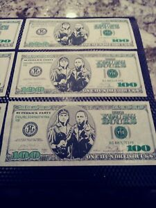 Authentic Young Bucks 100 Dollar Bill AEW Bill Double Or Nothing Las Vegas