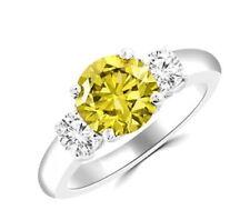 3.2.ct Carat Yellow Star Diamond: Certified   rare Canary Diamond 10mm