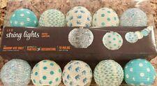 Set of 10-Light Paper Ball Chinese Lanterns LED Indoor Lights