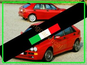 Italy Flag Sun Strip Visor Windshield Decal Sticker For alfa fiat lancia ferrari