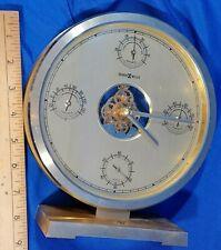 Howard Miller Clock Weather Station Barometer Thermometer Hygrometer VTG Gold
