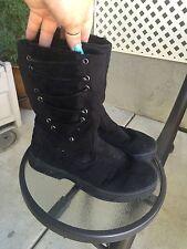 ALPINE DESIGN P150  Womens Black Faux Fur Winter Warm Soft Boots Sz 7