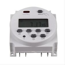7-Day LCD In-Wall Programmable Digital Timer Time Relay Timer Switch 12V White