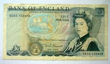 Great Britain ND 1980's Somerset P-378c  5 Pounds QE II 'VERY FINE'.