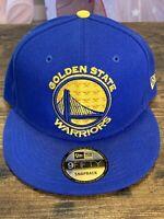 NOS New Era 9FIFTY Golden State Warriors SnapBack Hat/Cap ~ Golden Gate Bridge