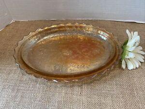 vintage carnival glass Platter Im Marigold Beautiful
