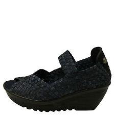 Bernie Mev. Halle Jeans Women's Woven Open Toe Casual Wedges