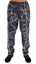NWT $700 DOLCE & GABBANA Pajama Pants Gray Monkey Print SILK Sleepwear s. IT5 /M