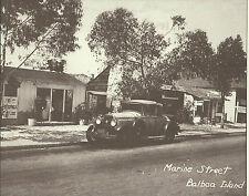 NEWPORT BEACH Balboa Island Old Car Marine St VINTAGE Photo Print 1480 11 x 14
