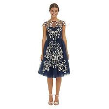 % chino chino laine robe bleu marine S UK10