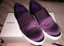 NIB Vince Corbin Aubergine Plum Purple Sneakers Shoes Loafers Women's Size 8.5 M