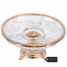 Matashi de Cristal Enchapados En Oro Rosa 3 secciones Compota Tazón Decorativo Para Postre