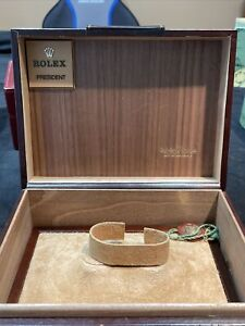 GENUINE Rolex Vintage President Day Date 70-80s Brown Leather watch box 71.00.04