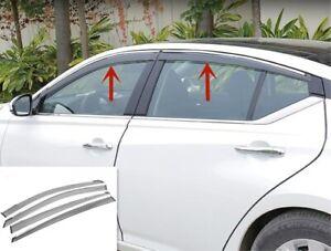 Black Window Visors Vents Sun Rain Guard Cover Trim For Nissan Teana Altima 2019