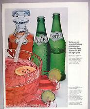 Sprite Soda PRINT AD - 1965 ~~ Spicy Punch recipe