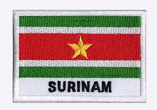 Ecusson patch brodé à coudre patche drapeau SURINAM 70 x 45 mm pays Monde