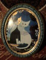 Goebel Artis Orbis R. Wachtmeister Micia e Micio Cats Wall Hang Plaque Artwork