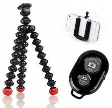 Joby GorillaPod Magnetic Tripod with Ivation Wireless Bluetooth Camera remote