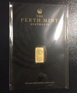 1 Gram Perth Mint GOLD BAR 99.99% 'Investment Gold'