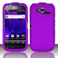 Hard Rubberized Case for Pantech Burst P9070 - Purple