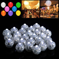 50 Led Ball Lamps Balloon Light For Paper Lantern Wedding Party Decoration TDO