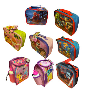 Childrens Kids Character Novelty Insulated School Lunch Bag Dinner Food Box