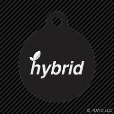 Hybrid Keychain Round with Tab dog engraved many colors