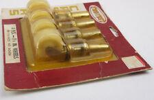 "Set (4) new stem casters wheels plastic 1 1/4"" stem NOS New Tru Test Hardware"
