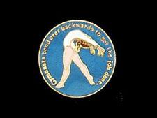 Gymnasts Bend Over Backwards To Get The Job Done Lapel Pin - Motivational Design