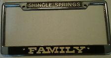 Shingle Springs CA Holder  Dealership License Plate Frame Metal Embossed Tag