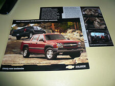 2003 Chevrolet Avalanche Sales Flyer - Double Sided