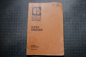 CAT Caterpillar D353 Engine Parts Manual Book catalog diesel 1972 spare list OEM