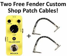 New Mooer Yellow Comp Optical Compressor Pedal Micro Guitar Effects Pedal!