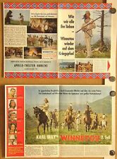 WINNETOU 2 (1964) - FLYER (49 x 33 cm) - KARL MAY / LEX BARKER / PIERRE BRICE